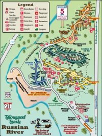 Thousand Trails Russian River Campground Map